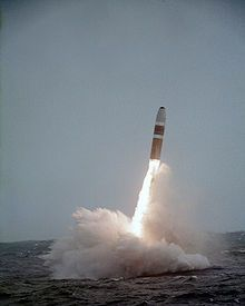 Trident II D-5 submarine-launched ballistic missile, we launched one from USS Wyoming in 2002.