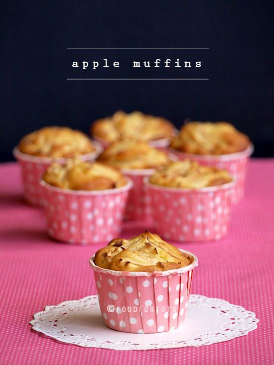 apple muffins, apple cupcakes, toddler, lunch box, healthy muffins, Food For Tots
