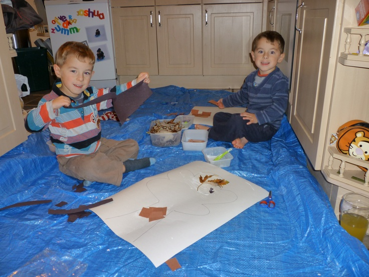 """When """"making"""" always make sure you have as much space as possible - spread out and make it so that each child can reach their own bits and bobs. Tips at http://gettingstuckin.co.uk/for-parents-essentials/tips-and-ideas/top-tips/"""
