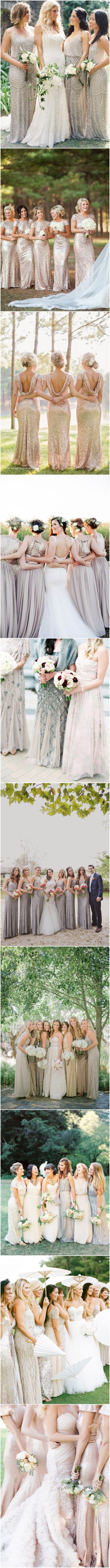 cheap silver jewelry 40  Sequined and Metallic Bridesmaid Dresses   See more at  http   www deerpearlflowers com 2015 wedding trends sequined metallic bridesmaid dresses  sthash w7SGv3DY dpuf