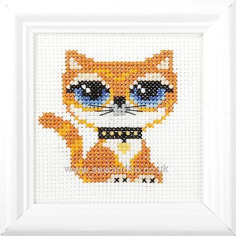 Ginger Kitty Cross Stitch Kit