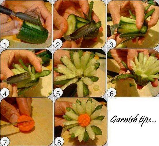 Garnish tips (cucumber)