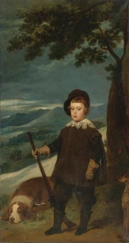After Diego Velázquez Portrait Of Prince Balthazar Carlos In Hunting Costume Oil on canvas  76 x 40 1/2 in