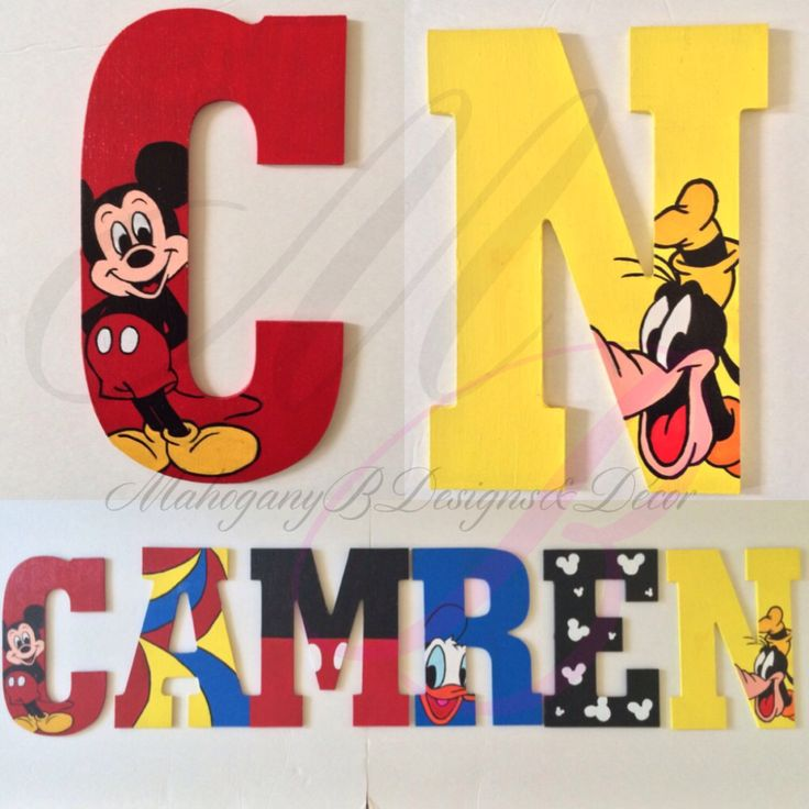 Hand Painted Mickey Mouse & Friends wooden letters by ...