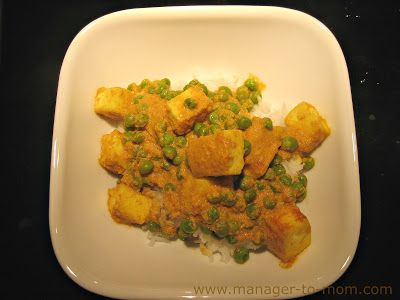 "Manager to Mom: ""Indian Inspiration Week"" Recipe 1: Paneer Matter"