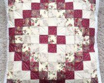 Cuscino trapuntato pillow - cuscino decorativo - rosso cuscino floreale - trapuntato cuscino copertina - cassa del cuscino trapuntato - patchwork