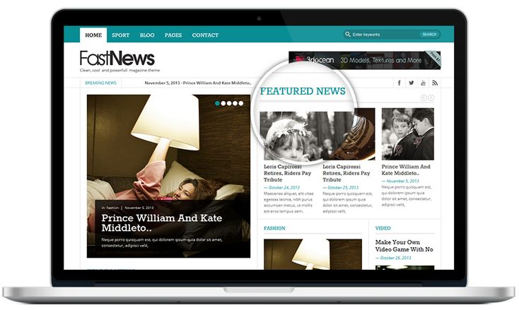 Fast News- Magazine WordPress theme (Light version)