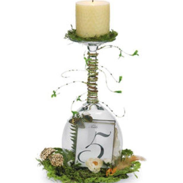 diy wine glass centerpieces | Easy DIY wine glass centerpiece | Ideas foe shower