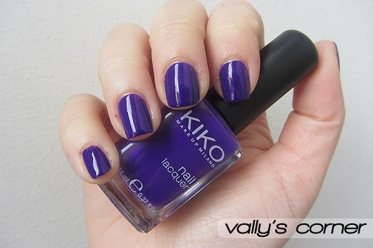 Vally's corner - Blog | Life, beauty, books and something more.: Nails - Kiko #333 Viola Brillante