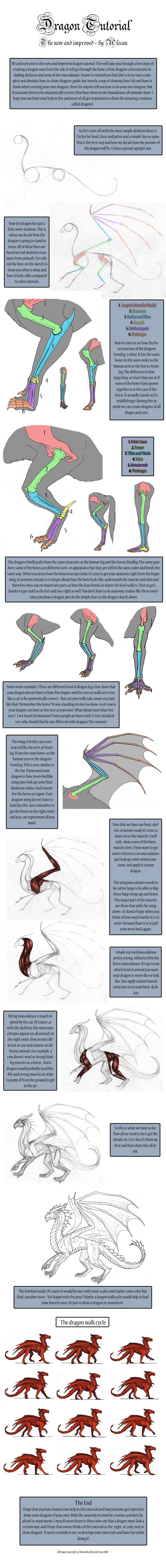 Dragon Tutorial - New by *alecan on deviantART || CHARACTER DESIGN REFERENCES | Find more at https://www.facebook.com/CharacterDesignReferences if you're looking for: #art #character #design #model #sheet #illustration #best #concept #animation #drawing #archive #library #reference #anatomy #traditional #draw #development #artist #how #to #tutorial #conceptart #modelsheet #dragon #dragons