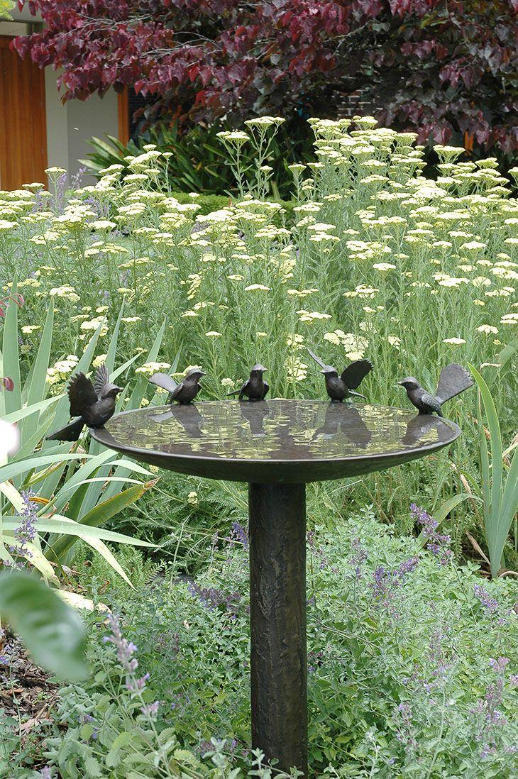 bird bath nz Bird bath garden, Bird bath, Garden fountains