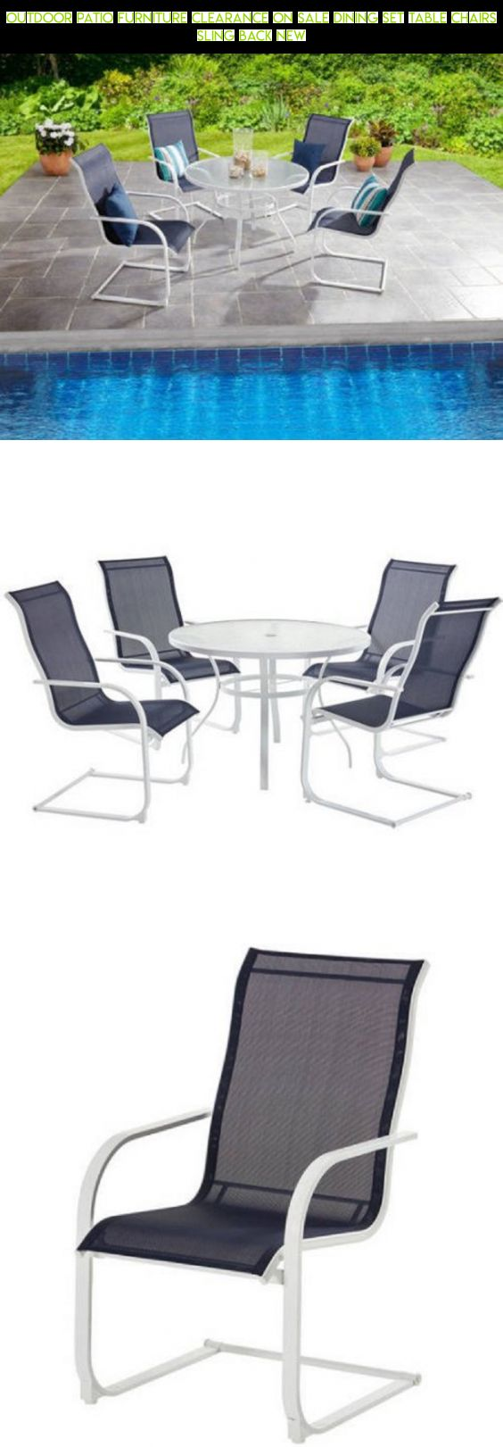 Outdoor Patio Furniture Clearance On Sale Dining Set Table Chairs Sling  Back NEW #patio #