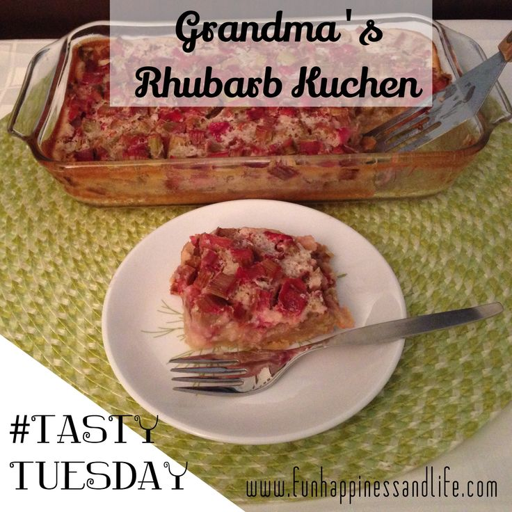 This summertime favorite is decadent when eaten in the middle of winter. Rhubarb kuchen one of my favorites.