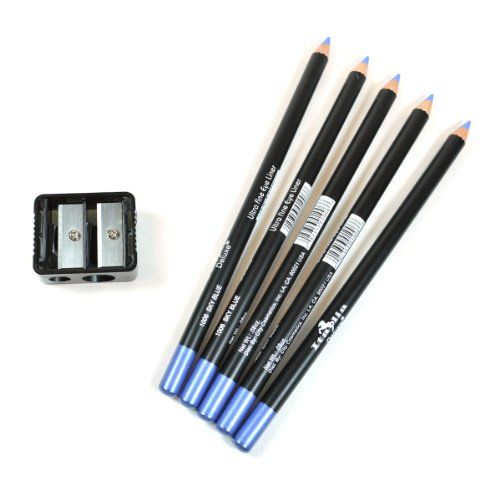 5 BLUE ITALIA EYE LIP LINER PENCIL 1006 SET  FREE SHARPENER  FREE EARRING * Click on the image for additional details.