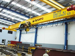 http://www.santocrane.com/   #electric #magnetic #overhead #crane  Gantry crane with a high utilization of space, large operating range, wide adaptation.