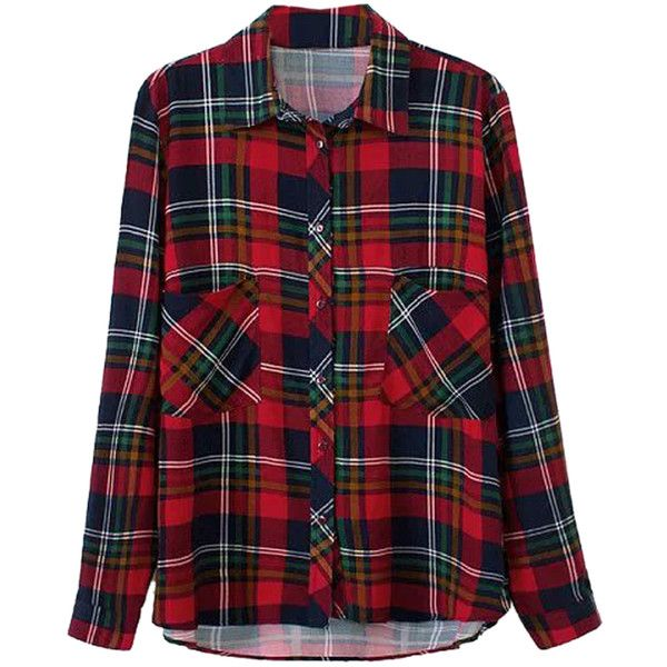 Choies Red Plaid Long Sleeve Shirt (€21) ❤ liked on Polyvore featuring tops, shirts, blouses, flannels, red, red flannel shirt, red long sleeve shirt, plaid top, long sleeve tops and shirts & tops