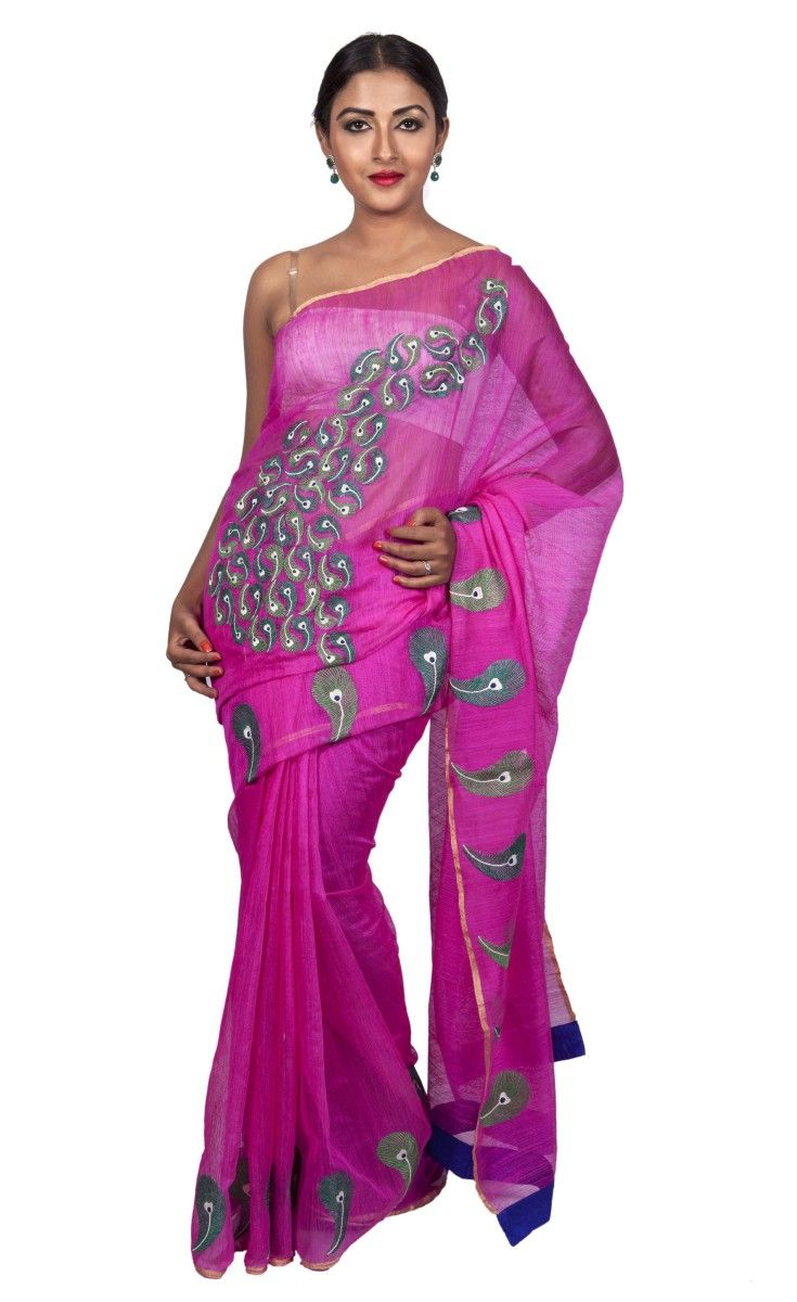 - THE CELEBRATION IS YOU - Festive Fauna Matka Silk Rani Pink Sari  with Abstract Peacock Embroidery.  Now at 30% OFF. For Price and more information, visit http://shopping.threadturner.com/sarees/party/festive-fauna-matka-silk-rani-pink-with-abstract-peacock-embroidery Happy Shopping!
