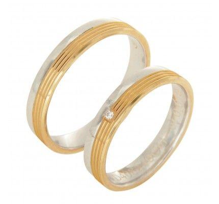 Βέρες #Bonise WE408240CG #wedding_ring #whitegold #gold #red_gold #marriage #proposal #love #faith