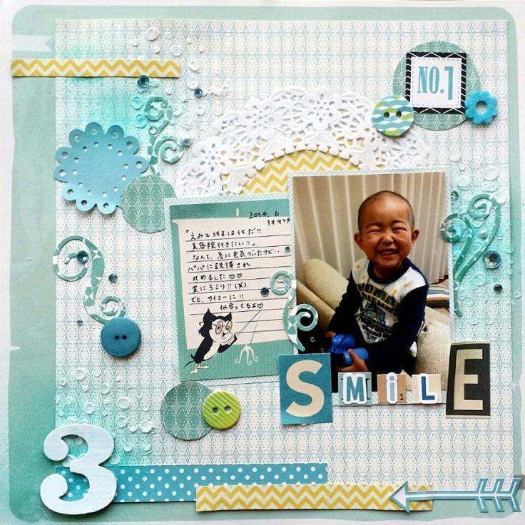 by Hironyan 息子のキラキラした笑顔の写真で作りました。
