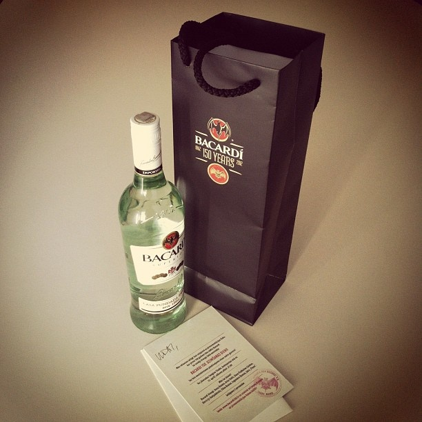 Invitation to Bacardi 150th birthday party. Cheers!