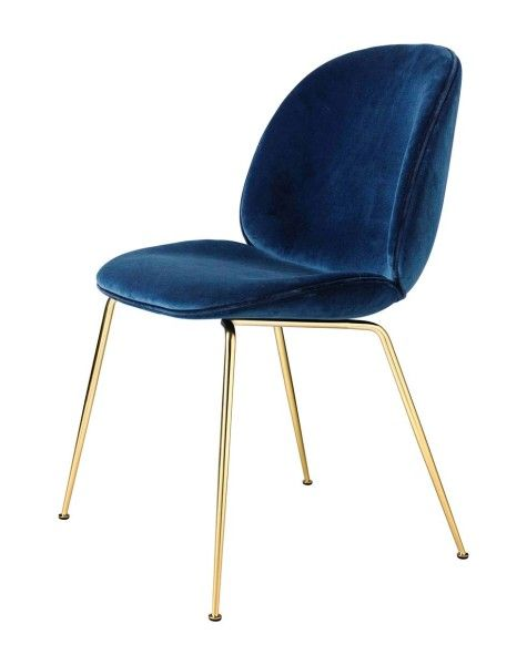 New Beetle dining chair in brass from Gubi -Gorgeous!