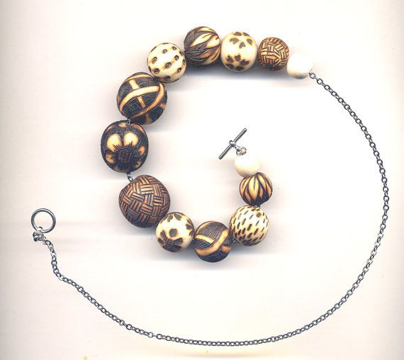 Wood Burned Nursing Necklace With Bird and Flower  by Annaart72