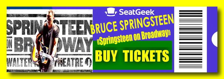 """Bruce Springsteen 2018 - The easiest way to buy concert tickets (seller – SeatGeek) - Bruce Springsteen 2018 - Concert """"Springsteen on Broadway"""", Walter Kerr Theatre – New York, NY - Tickets, Schedule."""