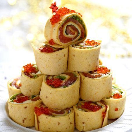 Wraps al salmone e formaggio fresco