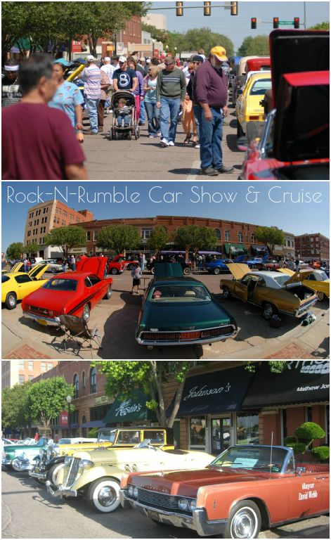 The Rock N Rumble Car Show Cruise In Altus Features Dozens And