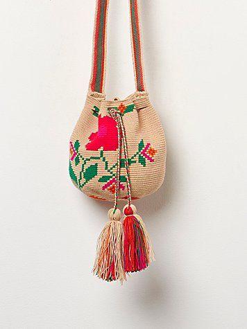 Floral Wayuu Crossbody
