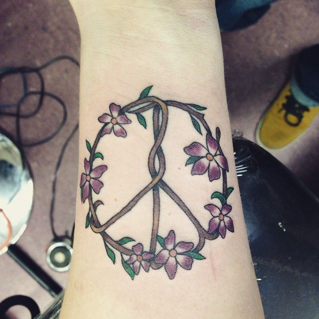 30 Cool Peace Sign Tattoo Meaning and Ideas - Anti-War Movement Symbol