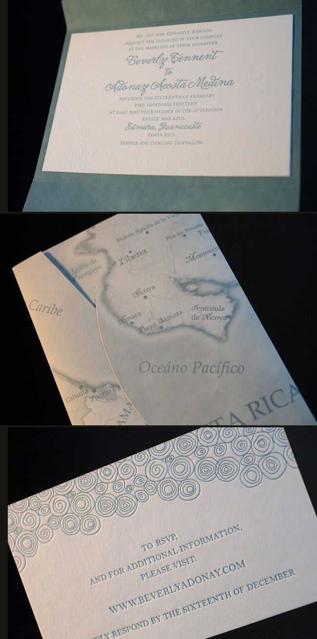 wedding invitations map%0A Another amazing map folio wedding invitation  We love the way this custom  folio featuring a