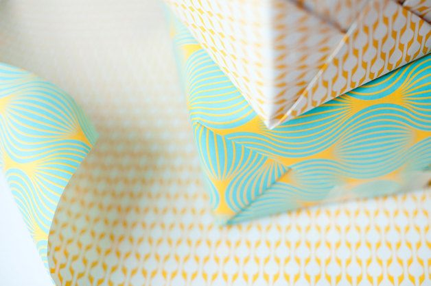 Wrapping Paper – Double Sided Wrapping Paper, blue and yellow pr... – a unique product by evaenanne on DaWanda