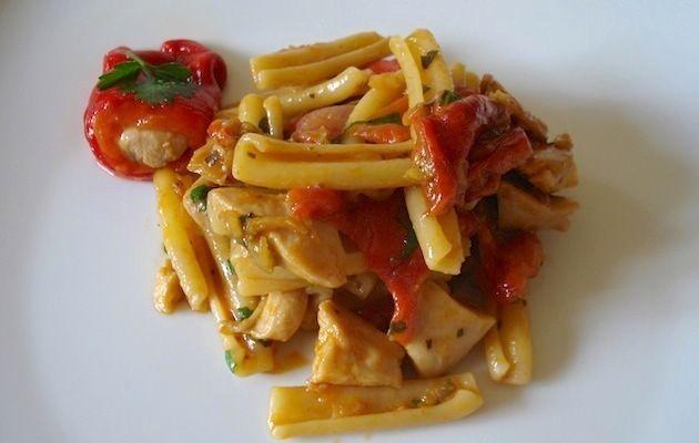 Le grandi paste regionali  Lazio: caserecce con pollo alla romana