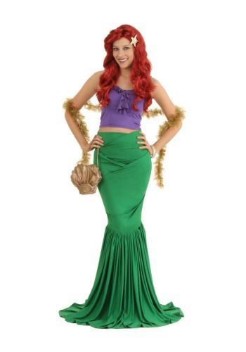 Wish you lived in a fairy tale? This Adult Mermaid Costume looks like something straight from Atlantis!