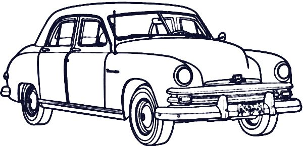 Printable Antique Cars Coloring Pages Antique Cars Cars
