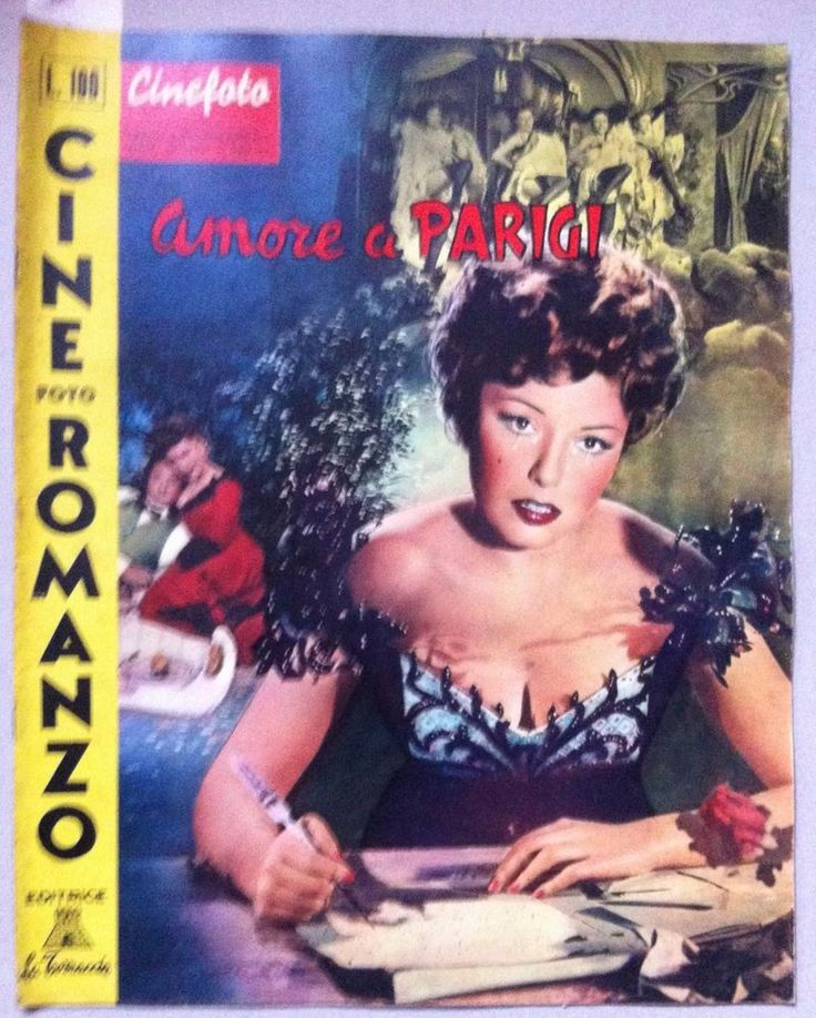 Cine foto romanzo AMORE A PARIGI CON CLAUDINE DUPUIS, PHILIPPE LEMAIRE 1958