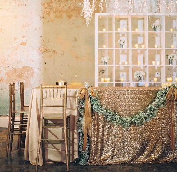 Gold Sequin Rectangular Tablecloth, Sequin tablecloth, Silver sequin tablecloth, Custom tablecloth