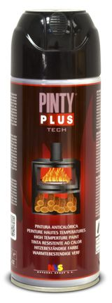 Pintura en spray anticalórica PINTYPLUS TECH. Pintura de alta temperatura. Supporting DIY with our spray paints.
