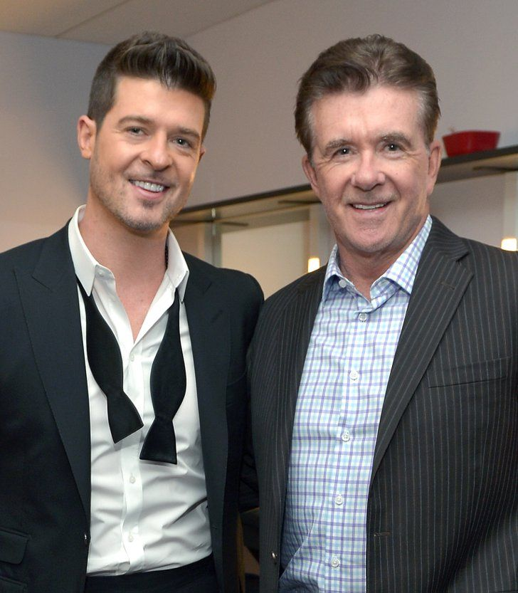 Pin for Later: 21 Celebrity Dads Who Are Nearly Identical to Their Sons Alan Thicke and Robin Thicke