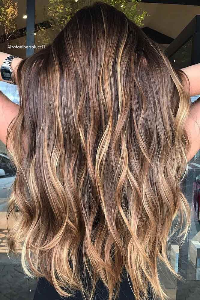 24 Ways To Experiment With Balayage Highlights Lovehairstyles Com Brown Hair With Caramel Highlights Brown Hair With Blonde Highlights Hair Color Light Brown