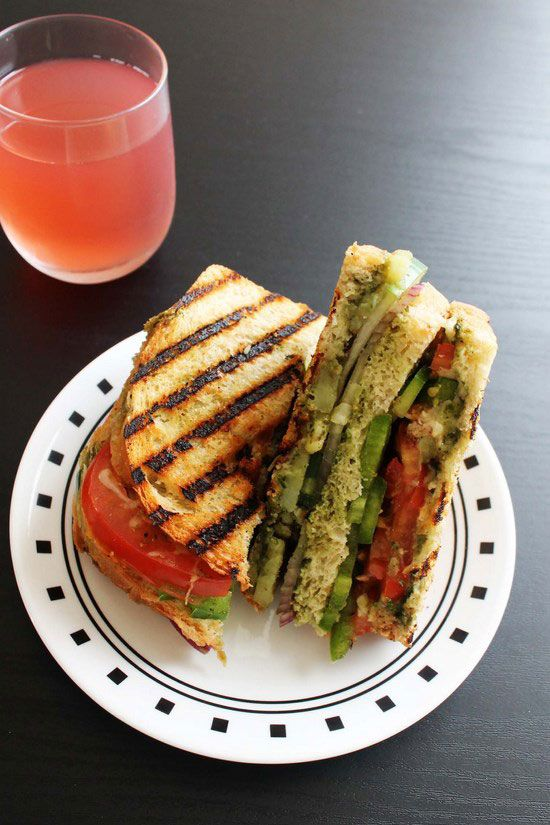 Bombay Vegetable Grilled Sandwich: This sandwich takes vegetables to the next level, and the end results are gorgeous!