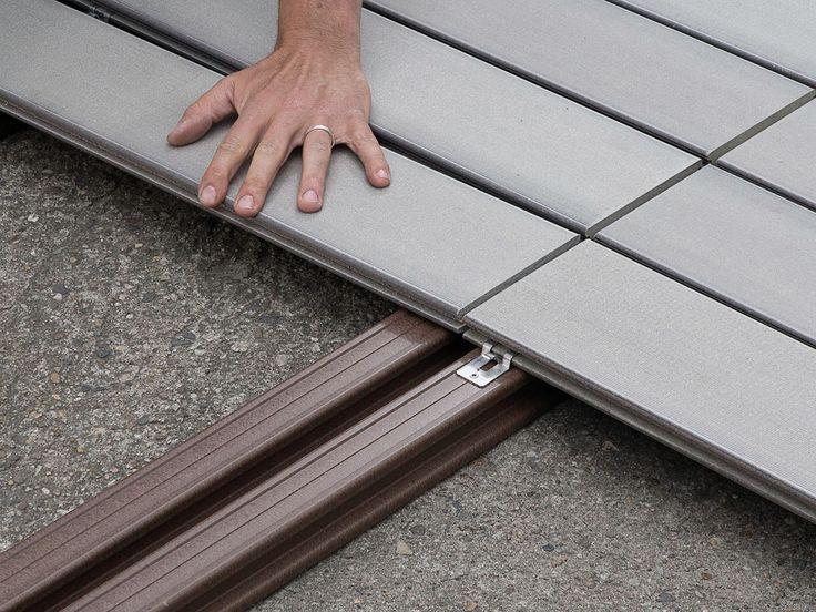 wpc dielen verlegen unterkonstruktion und bei der verlegung einer schraubenfreien terrasse anleitung
