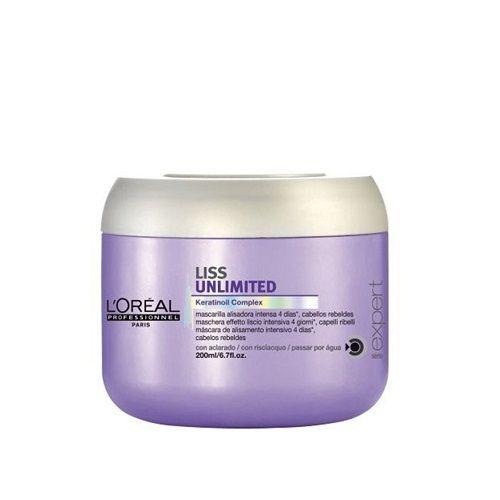 L'Oreal Professionnel Liss Unlimited Nepaklusnių plaukų kaukė 200ml