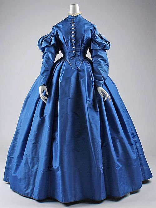 Late 19the century (civil war era) gowns don't do it for me, but this blue?? Just stunning. Dress 1867 The Metropolitan Museum of Art
