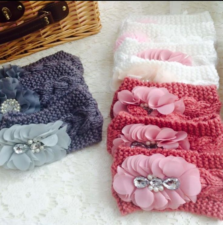 Knitted head bands/head warmers for chilly nights