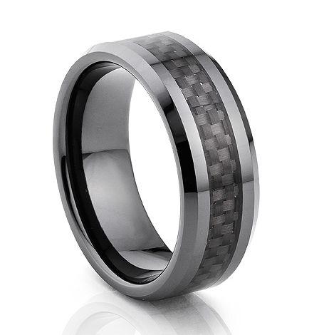 TUR 101CF - 8mm Men's Tungsten Carbide Wedding Ring