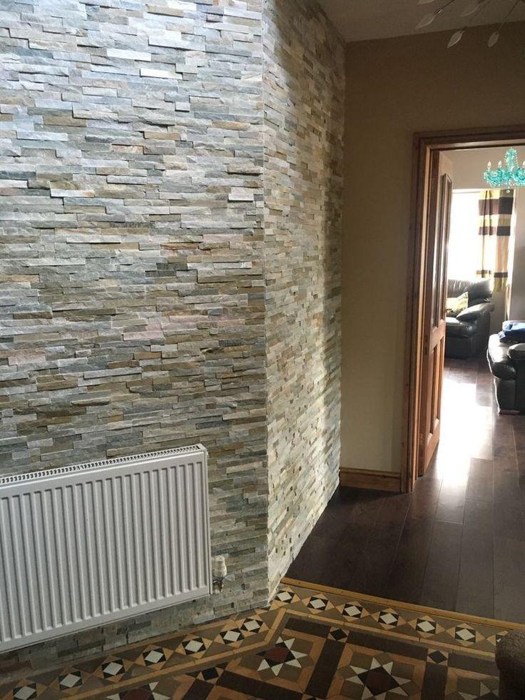 Oyster Split face Slate Wall Mosaic Cladding tiles, Internal or External use