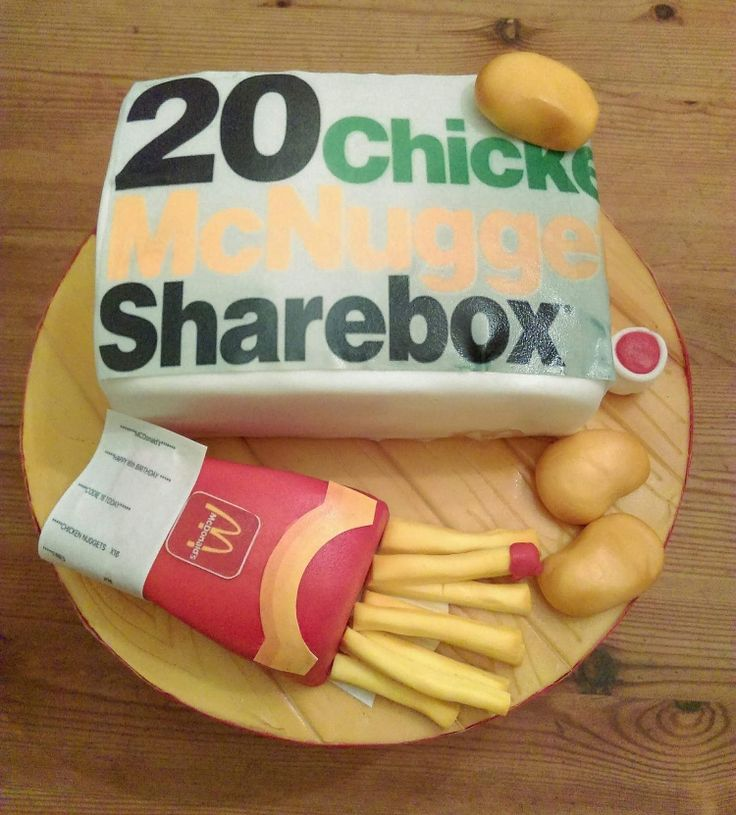 McDonald's nuggets and fries cake