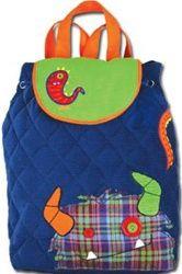 """Stephen Joseph 13""""x13"""" Cotton Monster Backpack, $28"""
